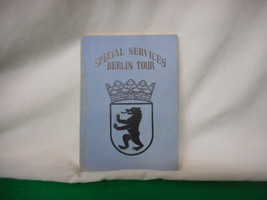 Vintage Undated Special Services Berlin Tour Book - $21.38