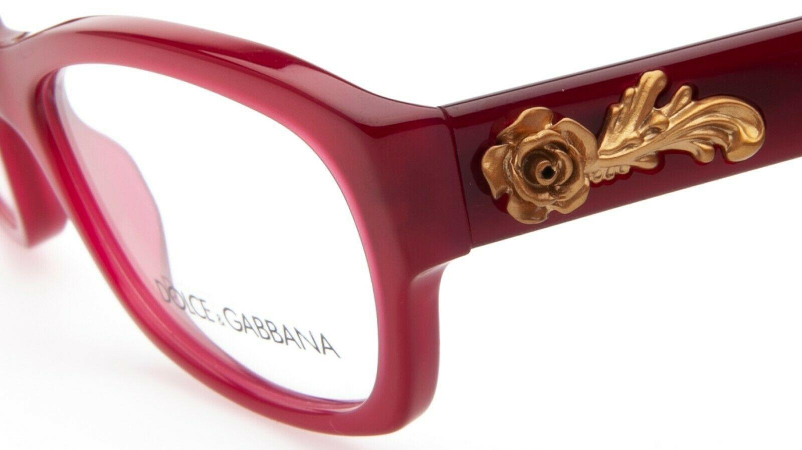 NEW D&G Dolce & Gabbana DG 3150 2681 OPAL RED EYEGLASSES FRAME 52-17-135mm Italy