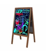 LED Message Writing Board A-Frame Sidewalk Sign Chalkboard with Stand, 3... - $59.69