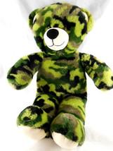 """Green Camo Bear Camouflage Plush Doll 16"""" Build a Bear BAB - $15.83"""
