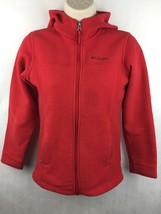Columbia Kid's Red Fleece Zip-up Jacket Size M 10/12 - $14.01