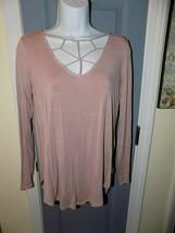 American Eagle Soft & Sexy Cutout Mauve Long Sleeve Shirt Size M Women's... - $24.00