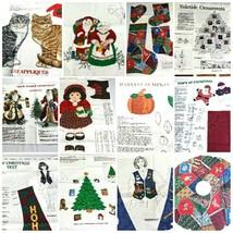 VIP Cranston Print Holiday Christmas Fabric Panels Door Panels Cut And S... - $9.86