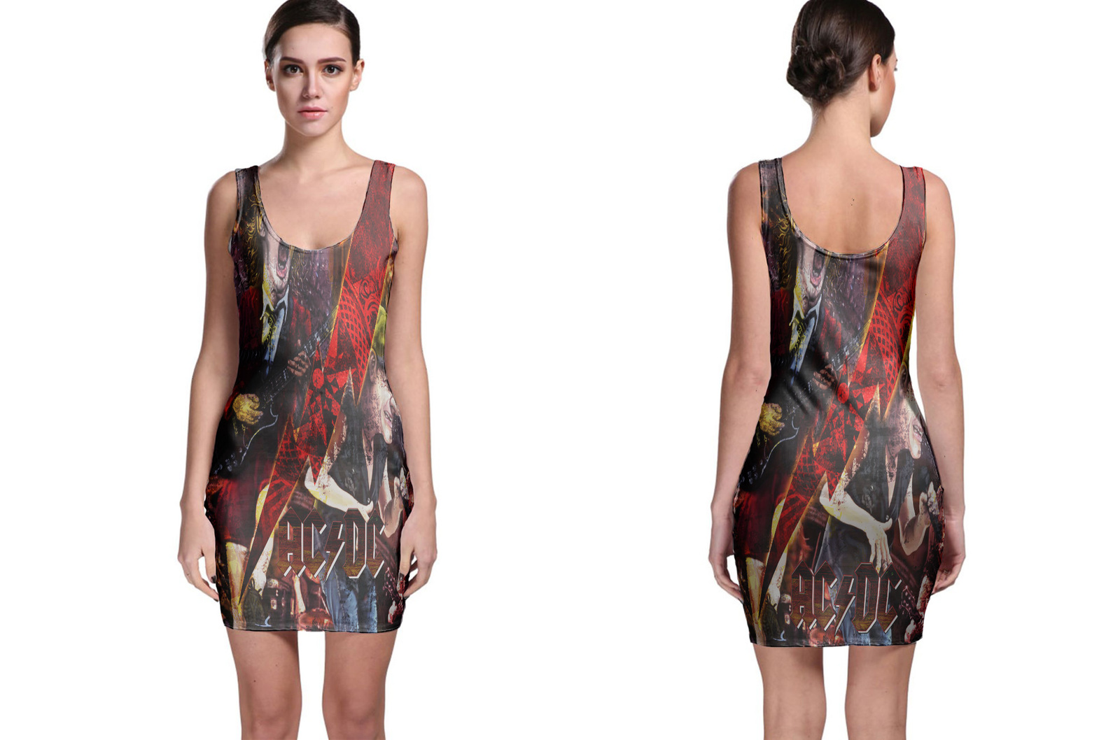 ACDC Collection #1 Women's Sleevless Bodycon Dress - $21.80 - $27.80