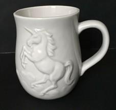 Vtg Otagiri Unicorn Coffee Mug Cup White 3D Rare Mythical Mystical Horne... - $29.69