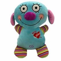 Cracker Barrel Fiesta CUTE Blue Puppy Stuffed Plush Gotta Love Me Stripe... - $8.86