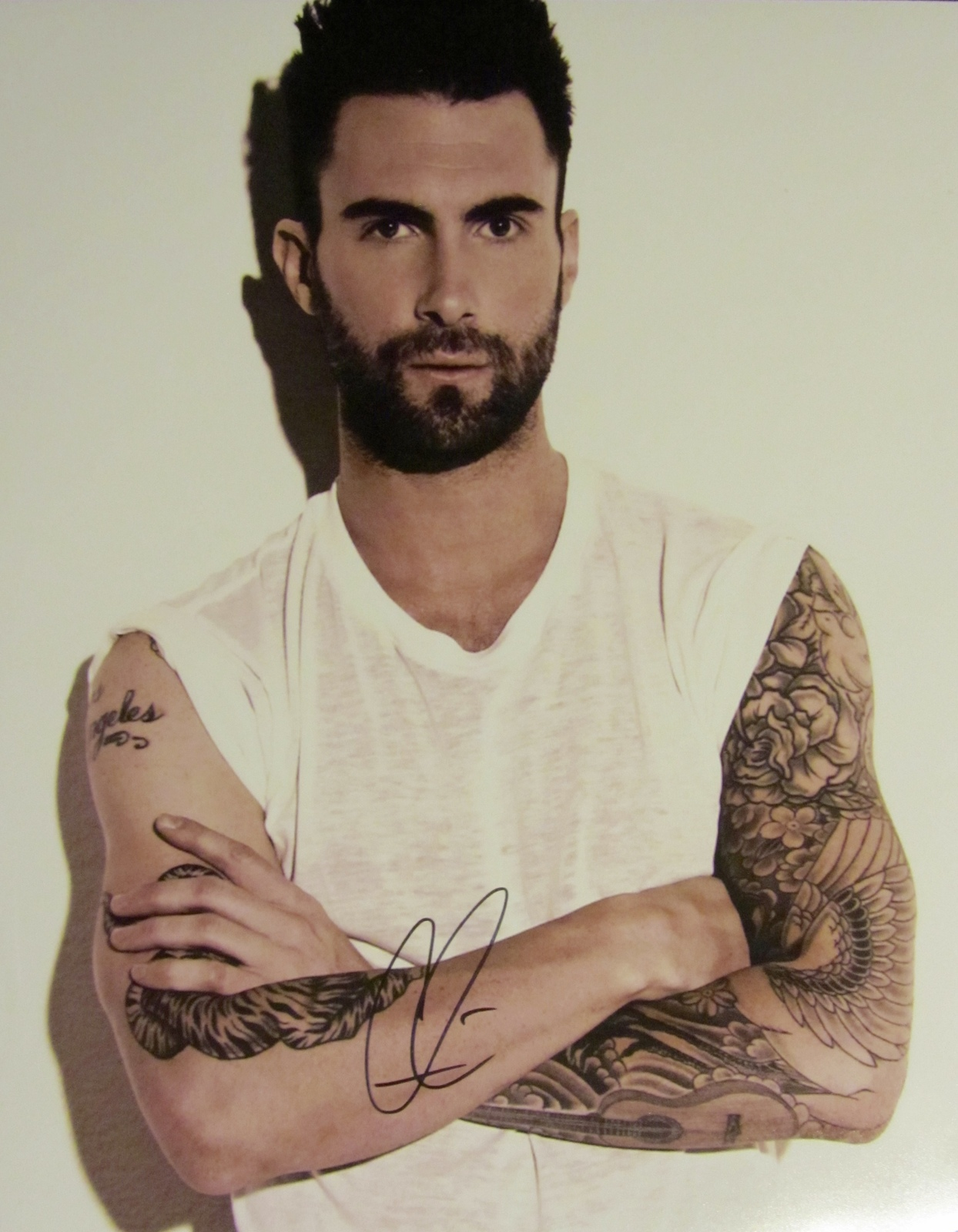 ADAM LEVINE AUTOGRAPHED HAND SIGNED Large 11X14 PHOTO w/COA THE VOICE MAROON 5