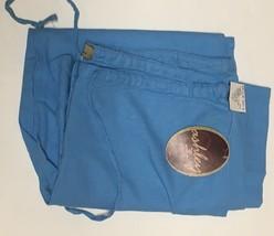 Ashley Junior Casual Capri Linen Pants Sz L Ocean Blue image 2