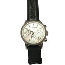 Michael Kors Watch Glitz Chronograph Crystal Mother Of Pearl MK5049 Jewelry - $91.63