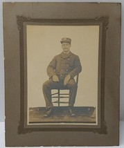 Antique Cabinet Card Photo Early 1900s Washington DC FIREMAN Photograph - $65.00