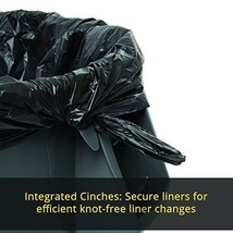 Quality Outdoor Trash Can 20 Gallons Dust Bin Heavy Duty Easy Clean Black - $44.16