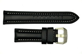 Genuine Luminox F-22 Raptor 9241 24mm Black Leather watch Band W/Silver ... - $89.95