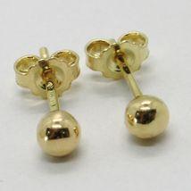 Gelbgold Ohrringe 750 18K, Kugel, Poller, Kugeln, Verschluß Schmetterling image 5
