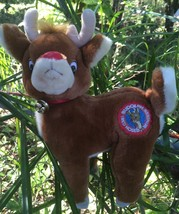 """1988 VINTAGE RUDOLPH THE RED NOSED REINDEER 10"""" PLUSH TOY APPLAUSE 21510 - $16.99"""