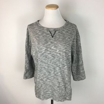 LOFT Ann Taylor Women's Pullover Gray Knit Athletic Workout Sweater Size... - €13,34 EUR