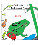 Endangered Species Learning Coloring Book --eBook-- (pdf) Animal Coloring Book - $1.99