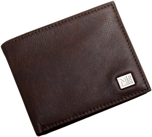 Nautica Men's Passcase with Removable Card Holder,Brown,One Size