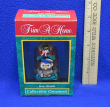 Teacher Christmas Tree Ornament Owl In Pencil House NOS Collectible - $8.90