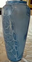 Porcelain Limousine (PL) FR. 1905 Arts, Crafts Blue On Blue Flowers-Geom... - $303.88
