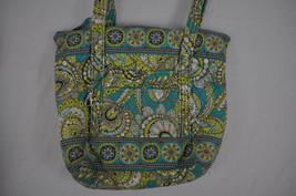 VERA BRADLEY Quilted Cloth Handbag Shoulder Bag Green Yellow Floral Pattern - ₹1,688.19 INR