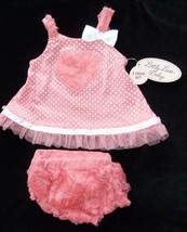 BABY GIRL SUMMER SPRING CLOTHES OUTFIT  DRESS  RUFFLE SHIRT PANT 6-9 LIT... - $15.98