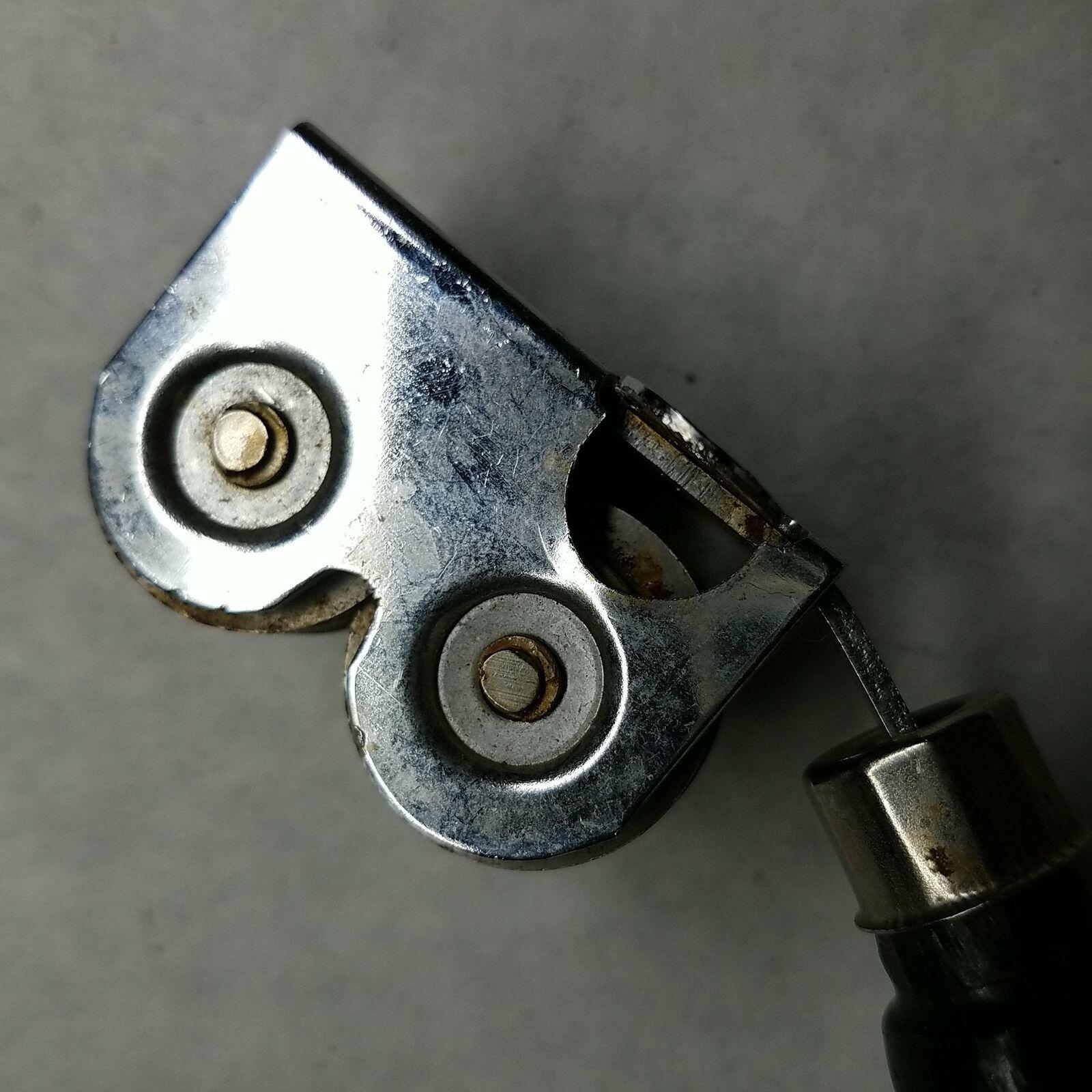 Ekco Chromium Plated Knife Sharpener Pull Through Black Handle