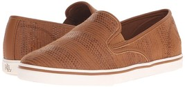 Ralph Lauren Women's Premium Janis Slip-On Athletic Fashion Sneakers Shoes Tan