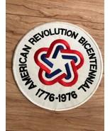 "1776-1976 American Revolution Bicentennial Large Back Patch 8"" Across - $28.71"