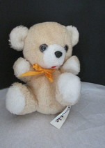 "Vintage 1978 Russ Berrie & CO. Plush cream tan teddy bear Cookie  7"" - $19.99"