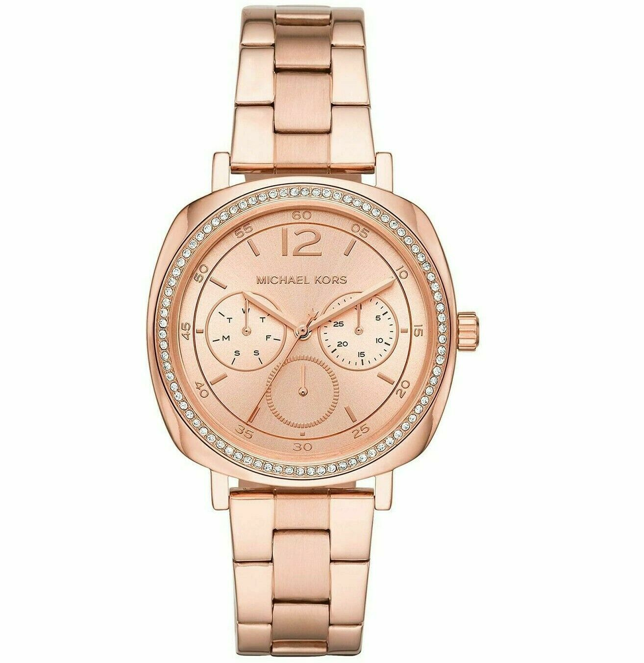 Primary image for Michael Kors Womens Nia Multifunction MK3957 Rose Gold Tone Watch  Brand New