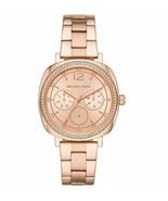 Michael Kors Womens Nia Multifunction MK3957 Rose Gold Tone Watch  Brand... - $109.99