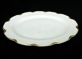 Porcelain Serving Platter, Haviland Limoges, 25th Anniversary Yellow Gold - $88.15