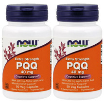 Now Foods PQQ 40mg with 200mg 2X50Caps Mitochondrial Extra Strength Alpha Lipoic - $45.49