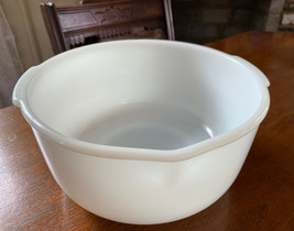 "Vtg Fire King Ware for Sunbeam Large White Milk Glass Mixing Bowl 9"" in ... - $17.73"