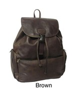 Leather Backpack Carry On Luggage Travel Overnight Bag Jumbo Trip Back P... - $98.49