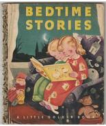 """Bedtime Stories Little Golden Book 1942 """"T"""" Edition Gustaf Tenggren - $9.89"""