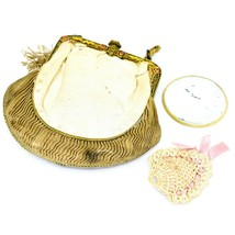 Vintage Cloth Evening Purse Clutch Coin Makeup Bag Accessory image 1