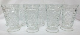 """Vtg Fostoria American Clear Footed Ice Tea Glass/Goblet 16 oz 6"""" Tall Set of 8 - $80.00"""