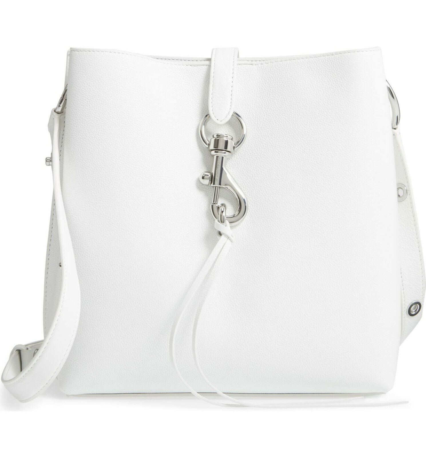 Primary image for Rebecca Minkoff Large Megan Shoulder Bag - Optic White (Retail - $328)