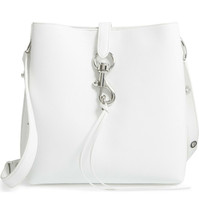 Rebecca Minkoff Large Megan Shoulder Bag - Optic White (Retail - $328) - $137.61