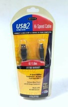 Belkin USB 2 Hi Speed Cable 6 FT A Plug B Plug F3U133-06  - $2.42