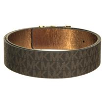 Michael Kors Women's Premium MK Logo Signature Plaque Faux Leather Belt 553504 image 9