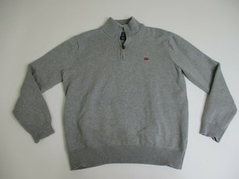 Polo Jeans Co. Pullover Sweater Men Medium 1/2 Zip Leather Pull Tab - $24.88