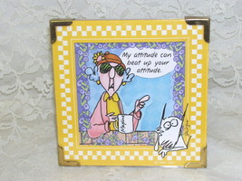 Framed Maxine Cartoon Print My Attitude Can Beat Up Your Attitude - $23.55