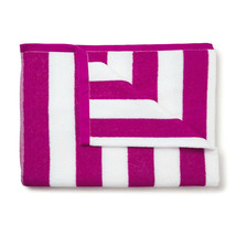 Jumbo Havana Stripe Cabana Beach Pool Cotton Towel 30 x 60 Magenta 2 Pack - $107.10