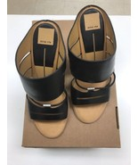 DOLCE VITA black leather sandals Strappy High Heels Slide DV new size 9 - $54.70