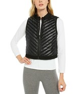 Calvin Klein Performance Women's Cropped Quilted Vest, Black, L - $37.80
