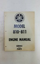 Vintage Yamaha Snowmobile Service Parts Engine Manual Model 810 - 811 - $19.95