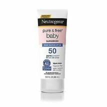 3 Tubes - Neutrogena Pure & Free Baby Sunscreen - Spf 50 - 3.0 Fl. Oz. Ea Tube - $24.99