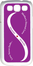 Purple & White Mother's Love with Purple Names on Samsung Galaxy S3 Case... - $15.95